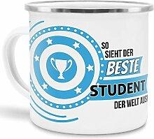 Emaille-Tasse mit SpruchSo Sieht der Beste Student