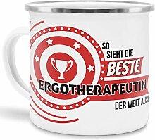 Emaille-Tasse mit SpruchSo Sieht Ergotherapeutin
