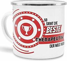 Emaille-Tasse mit SpruchSo Sieht Therapeutin der