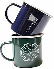 Emaille-Tassen, bedruckt, Camping-Becher, ideal