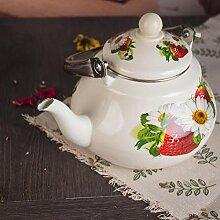 Emaille-Teekanne für Herdplatte,