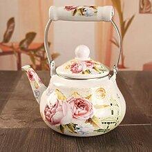Emaille Teekanne für Herdplatte,