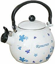 Emaille Teekanne Große Porzellan Emaillierter