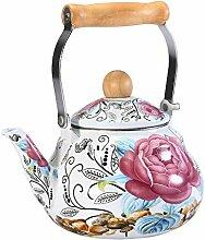 Emaille Teekanne Wasserkocher Kessel Emaille