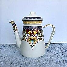 Emaille Teekessel Kaffeekanne Teekessel Ethno-Stil