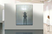 Emaille Wandskulptur mit Schnitzereien von Peter