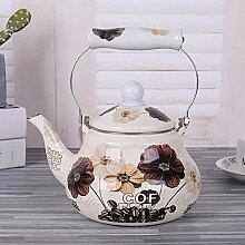 Emaille Wasserkocher Milch Teekanne 1,5 Liter