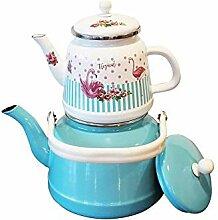 Emaillierte KesselEmaille Teekanne