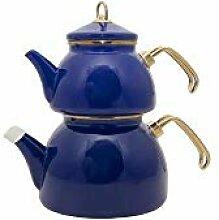 Emaillierter KesselEmaille Teekanne Set