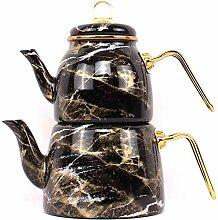 Emaillierter KesselEmaille Teekanne Teekanne