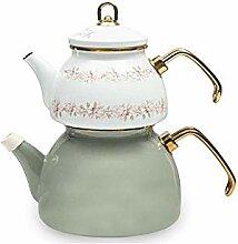 Emaillierter KesselMagnolie Emaille Teekanne