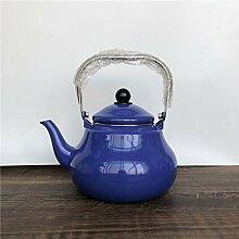 Emaillierter Kessel Teekanne Wasserkocher Emaille