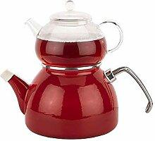 Emailliertes KesselglasDie Teekanne Rote