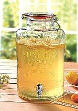 Emanhu Trading Getränkespender aus Glas mit