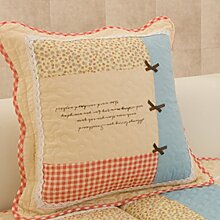 Embroidered Quilted Sofa Mat,Supporting Pillowcase,Backrest Pillow-B 45x45cm(18x18inch)VersionA