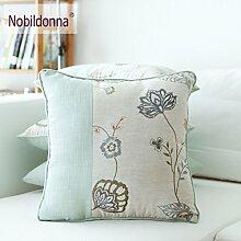 Embroidery Pillow,Set Of Cloth Sofa Pillow,Fashion Home Cushions Waist Pillow-B 45x45cm(18x18inch)VersionB