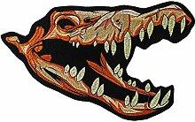 EMDOMO Drachen-Stickerei Aufnäher Skelett