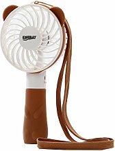 EMEBAY - Mini Ventilator, Mini USB Fan, Lüfter ventilator, Elektrische Personal Fans, Elektrische persönlichen Fan mit faltbarem Fans Hand Bar Desktop-Fan Handfächer Braun