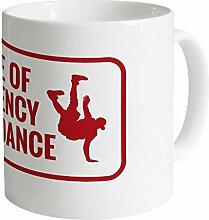 Emergency Breakdance Becher, Weiß