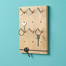 emform Schlüsselbrett Pin Eiche 155 X 240 X 35 Mm