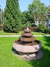 Emilio II aus Werksandstein inkl. Pumpe Gartenbrunnen Wasserspiel Steinbrunnen Felsbrunnen