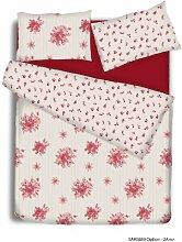 Emily Bettbezug Set mit Pillowcases- Bettwäsche Set Im Einzel-, Doppel-, King Und Super King Size Betten, Emily Red, Doppelbe