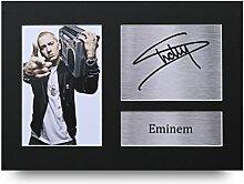 Eminem Signed A4gedrucktem Autogramm Slim Shady Print Foto Bild Präsentation Display–tolle Geschenkidee