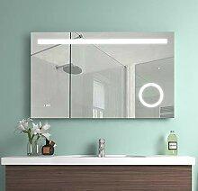 EMKE 100x60x4,5cm LED Beleuchtung Badspiegel,