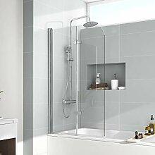 EMKE 110x140cm Faltwand für Badewanne