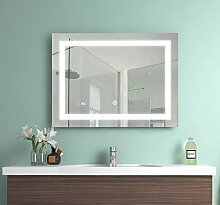 EMKE 80x60x4,5cm LED Beleuchtung Badspiegel,
