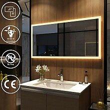 EMKE Badspiegel mit Beleuchtung 120x60cm