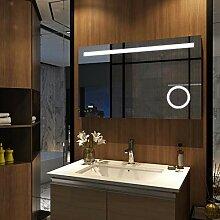 EMKE Badspiegel mit LED Beleuchtung 100x60x4,5cm