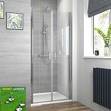 EMKE Duschtür 90 x 195 cm Nische mit Pendeltür,