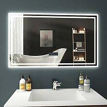 EMKE LED Badspiegel 100x60cm Beleuchtung