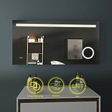 EMKE LED Badspiegel 120x60cm Beleuchtung