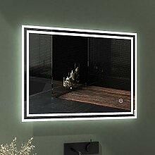 EMKE LED Badspiegel 80x60cm Badspiegel mit