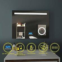 EMKE LED Badspiegel 80x60cm Beleuchtung
