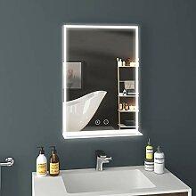 EMKE LED Badspiegel mit Ablage 50x70cm