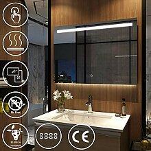 EMKE LED Badspiegel mit Beleuchtung 100x60 cm mit