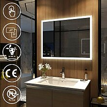 EMKE LED Badspiegel mit Beleuchtung 70x90cm,