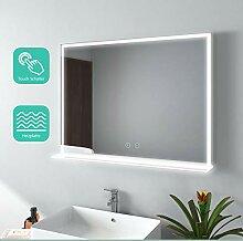 EMKE LED Badspiegel mit Beleuchtung 80x60cm