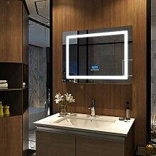 EMKE LED Badspiegel mit Beleuchtung 80x60cm mit