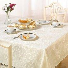 Emma Barclay Damast-Tischdecke mit Rosenmotiv,