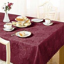 Emma Barclay - Damast-Tischdecke mit Rosenmuster -