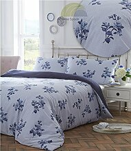 Emma duvet cover and pillowcase set - blue - super