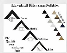 Emma Holzwerkstoff Bilderrahmen robust kantig 80 x