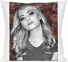 Emma Stone Portrait Pillow