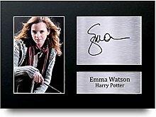 Emma Watson Signiert A4Gedruckt Autogramm, Hermine Granger Harry Potter Print Foto Bild Display–tolle Geschenkidee