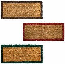 EMMEVI Fußmatte, natürliche Kokosfaser,
