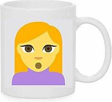 Emoji-Becher Person mit Pouting Face Emoji